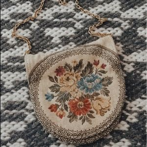 Gorgeous 60s vintage delill tapestry bag